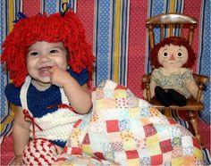 Raggedy Ann crochet dress and wig