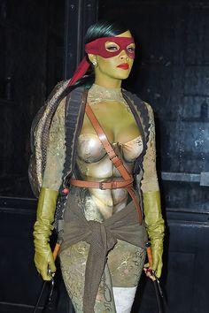 Rihanna as Teenage Mutant Ninja Turtle.