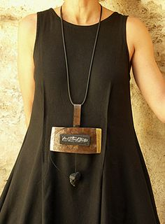 oxydized iron necklace -:- AMALTHEE CREATIONS -:-