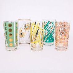 flamingo vintage glasses from frances lane event rental studio