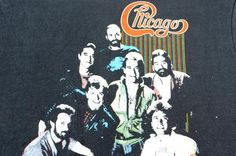 Vintage 1984 Chicago the Band Concert Tour Black T Shirt ,,Yes Please