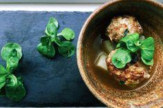 paleo chin yu (daikon radish meatball soup) * omit red chili pepper - aip compliant