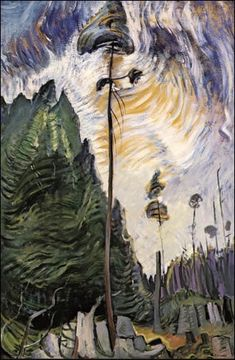 Emily Carr - Edge Of a Forest - Group of Seven, Canada Tom Thomson, Canadian Painters, Canadian Artists, Emily Carr Paintings, Group Of Seven Artists, Gottfried Helnwein, Vancouver Art Gallery, Jackson, Impressionist Paintings