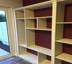 made to measure Open Back Built-in Shelving Unit