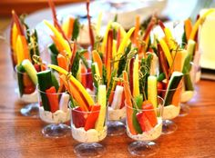 Crudites Cups with Fresh Herb Dip   Check out this and more recipes on the website!