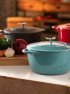 Perfect for one-pot meals! The heavy weight of a Pioneer Woman Dutch oven is perfect for dishes like stew and chili that require an even temperature over a long period. Check out the full line by Ree Drummond available now at http://www.walmart.com/thepioneerwomancooks and in your store.
