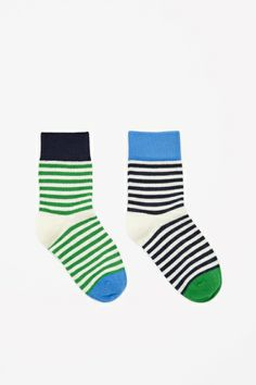 Two pairs of striped socks