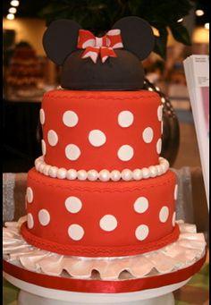 Minnie Mouse cake! mice, mous cake, birthdays, birthday idea, disney cake, minnie mouse cake, bridal showers, birthday cakes, bridal shower cakes