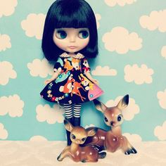Bambi-tastic - with thanks to the lovely @candypopimages for the latest cute addition to the #bambi family :) #blythe - @zoepower- #webstagram