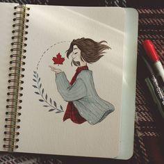 63 Ideas Art Inspiration Sketchbooks For 2019 Cute Drawings, Drawing Sketches, Fall Drawings, Drawing Ideas, Drawing Tips, Arte Sketchbook, Sketchbook Ideas, Cartoon Kunst, Cute Art