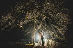 winter wedding photography at night at iscoyd park tree epic and creative