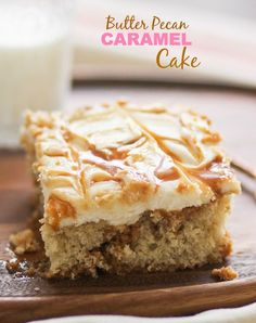 Butter Pecan Caramel Cake -- simple and cozy!!