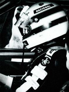 Ayrton Senna in a rally day