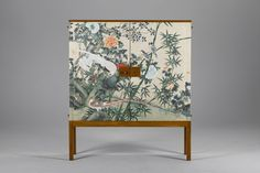 Large image of Josef Frank Cabinet; use of oriental print on plain cabinet Hand Painted Furniture, Upcycled Furniture, Vintage Furniture, Cool Furniture, Modern Furniture, Furniture Design, Cabinet Furniture, Furniture Makeover, Antique Furniture