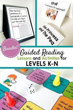 Guided Reading for Grade: Lesson Plans, Books, & Activities {Levels K-N} Guided Reading Activities, Guided Reading Lessons, Teaching Reading, Decoding Strategies, Reading Comprehension Strategies, Phonics Lessons, Phonics Games, Lesson Plan Templates, Lesson Plans