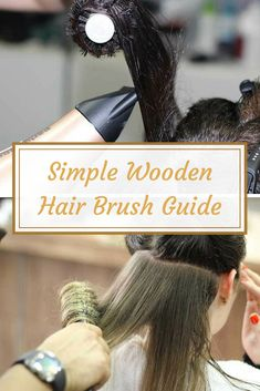 Best Wooden Hair Brush Guide via Natural Hair Care, Natural Hair Styles, Wooden Hair Brush, Hair Design, Best Hair Dryer, Best Hair Straightener, Blowout Hair, How To Apply Lipstick, Great Hairstyles
