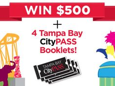 Contest from CityPASS - Win 4 Tampa Bay CityPASS booklets & $500