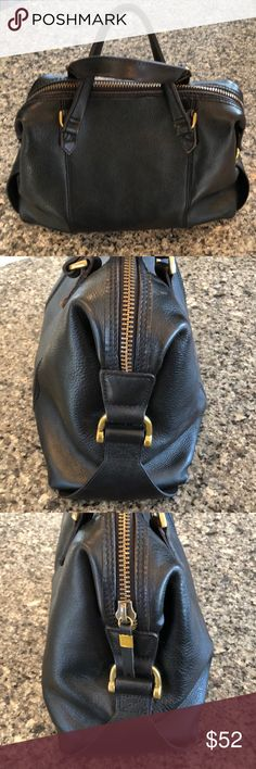 Madewell black satchel bag Gently used excellent condition black satchel madewell slight rubbing on bottom corners of bag super clean! Smoke free home Madewell Bags
