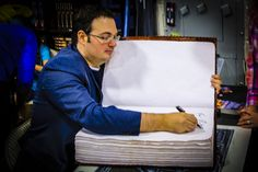 At Salt Lake Comic Con 2014 Brandon Sanderson was kind enough to sign my giant book - a book I will be using in local schools to encourage writing and illustrating.