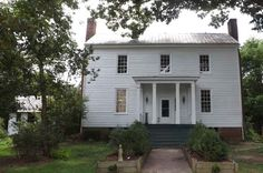the Jones Cooke House built in two parts, circa 1790 and 1841.Louisburg, NC