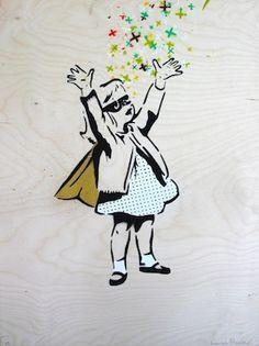 Bat Girl (Ply Wood) - Amanda Marie Batgirl, Limited Edition Prints, Wood Print, Creative Art, Are You Happy, Amanda, Street Art, Ply Wood, Make It Yourself
