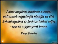 Varga Domokos gondolata a sorsról. Staying Positive, Einstein, Positivity, Motivation, Quotes, Google, Quotation, Quotations, Daily Motivation