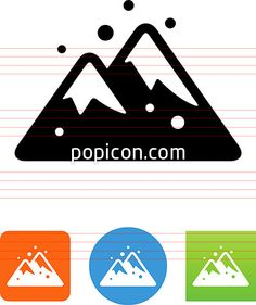 Snowy Mountains Icon - Illustration from Popicon