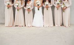 beige bridesmaid dresses captured by Whittaker Portraits