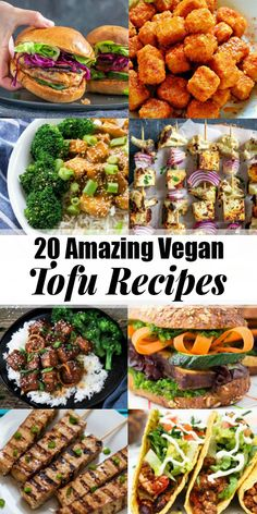 These 20 tofu recipes will definitely change the way you look at tofu! Tofu doesn't have to be boring and plain. In fact, it's super delicious, extremely versatile, and packed with protein! Perfect for healthy dinner recipes! #tofu #vegan #dinner