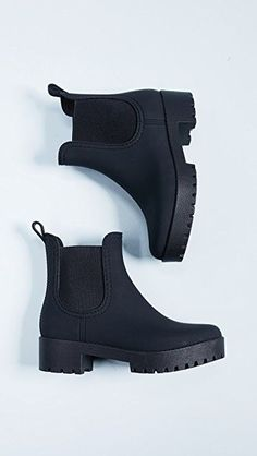Jeffrey Campbell Cloudy Rain Booties,Boots for Girls - Face the Breeze and Weather with Appeal Women's boots : With the right women's boots , you not merely make it through snow and wind,. Booties Outfit, Ankle Booties, Flat Booties, Dream Shoes, Jeffrey Campbell, High Boots, Black Boots Flat, Black Rain Boots, Black Shoes