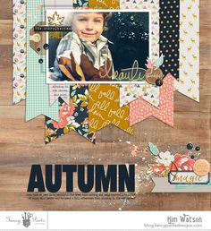 Autumn by Kim Watson using the Golden Days collection by Fancy Pants Designs
