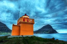 A lighthouse in Isafjordur, Iceland. Find it with the Stuck On Earth app created by Stuck in Customs