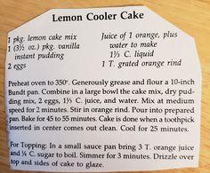 Lemon Dessert Recipes, Lemon Cake Mixes, Instant Pudding, Baking, Bakken, Backen, Sweets, Pastries, Roast