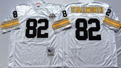 Steelers 82 John Stallworth White Throwback Jersey Steelers Gear d6c7fef9f