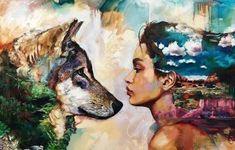 Dreamy Wolf Goddess Diamond Painting Kit makes stunning diamond art for home decoration! This diamond painting kit has everything you need to create a Art Inspo, Inspiration Art, Wolf Painting, Diy Painting, Wolf Goddess, Dimitra Milan, Art Nouveau, Art Tumblr, Illustration Art