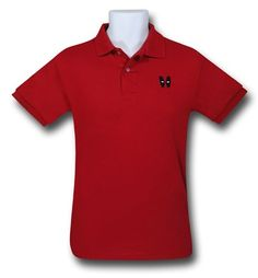 Images of Deadpool Minimal Mask Red Polo Shirt