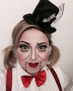 Ventriloquist doll makeup by Stephanie Garand