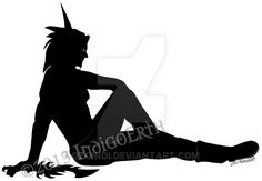 Blood Elf Male Silhouette by OzoIndi