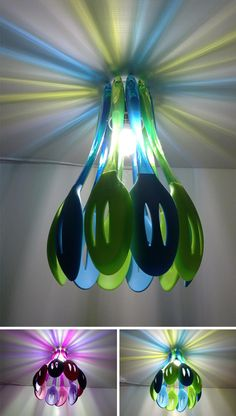 plastic slotted spoon lamp-wow !