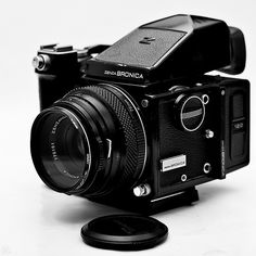 Zenza Bronica ETR with 75mm lens - my first medium format camera