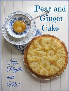 pear and ginger upside-down cake Pear And Ginger Cake, Pear Blossom, Great Recipes, Ivy, Roast, Apple, Baking, Friday, Desserts