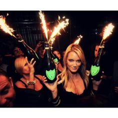 This is a great idea to spice up your next party and impress your guests with these fun Bottle Service Sparklers. These Bottle Service Sparklers are perfect for celebrations, Birthdays, New years, or any special party - with their beautiful spray of spark Bottle Sparklers, Champagne Sparklers, Sparkler Candles, Night Club, Night Life, Yacht Wedding, Wedding Venues, Wedding Dj, Wedding Stuff