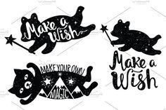Make a wish prints and patterns by julymilks on @creativemarket