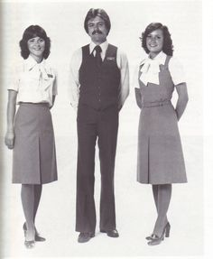 Airlines Past Present: Wardair Flight Attendant Uniforms Funny Commercials, Funny Ads, Come Fly With Me, Cabin Crew, Yesterday And Today, Attendance, Flight Attendant, Fall Looks, 1980s