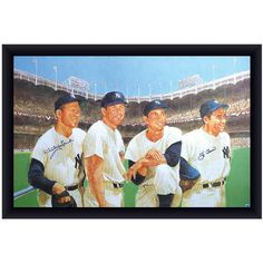 Berra and Ford Signed Art  A truly rare piece of memorabilia! This lithograph has been hand signed by New York Yankee legends Whitey Ford and Yogi Berra. It's 100 percent guaranteed authentic and includes a Steiner Sports Certificate of Authenticity. #memorabilia #rare #baseball #lithograph #newyorkyankee #whitneyford #yogiberra #signed #art #officeart