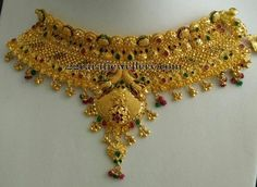 bridal sets & bridesmaid jewelry sets – a complete bridal look Gold Bangles Design, Gold Earrings Designs, Gold Jewellery Design, Necklace Designs, Gold Designs, Jewelry Designer, Handmade Jewellery, Gold Mangalsutra Designs, Gold Jewelry Simple