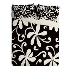 Rosie Brown White on Black Sheet Set Lightweight   DENY Designs Home Accessories