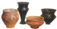 A collection of Early La Tène culture Iron Age pottery from Marne, France ca. 600-100 BC.BM.
