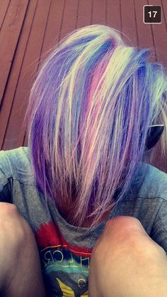 Pravana vivids, pastel hair colors, fun hair colors, mermaid hair,, pink hair, purple hair, blue hair, pravana, blonde