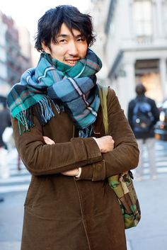With suede brown coat and bag